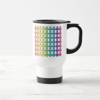 Travel Mug - Cute Rainbow Owl Pattern