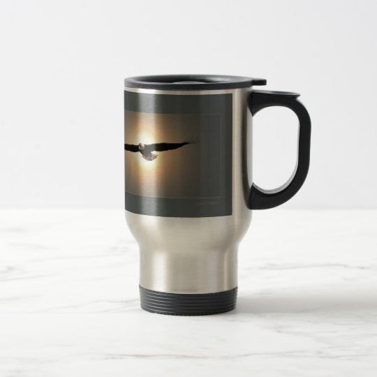 Travel mug, eagle travel mug