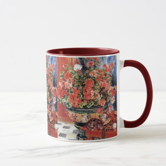 Travel Mug Flowers & Cats by Renoir