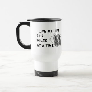 Travel Mug - I live my life 26.2 miles at a time