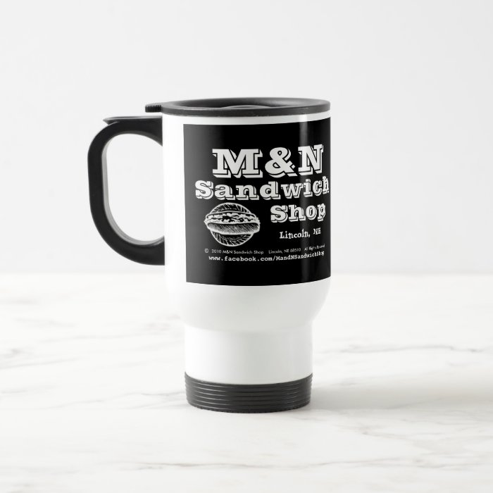 Travel Mug - M&N Logo 2 (Black)