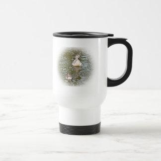 Travel Mug: Mallard Duck and Duckling Travel Mug