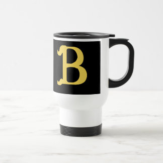 Travel Mug Monogrammed with the Letter B