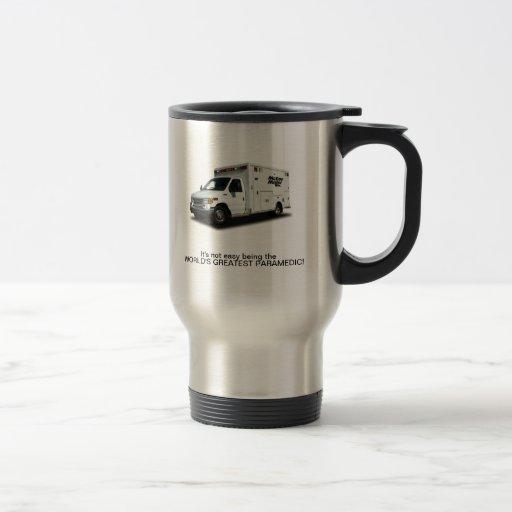 Travel Mug, Paramedic 15 Oz Stainless Steel Travel Mug