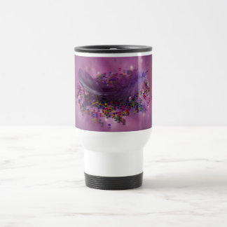 Travel Mug - Purple Fairys Feather