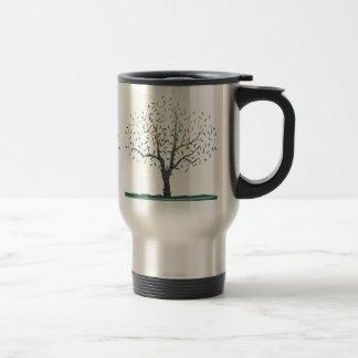 Travel Mug - Recycled Art Tree Image