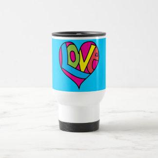 Travel Mug - Retro Peace 'n Love