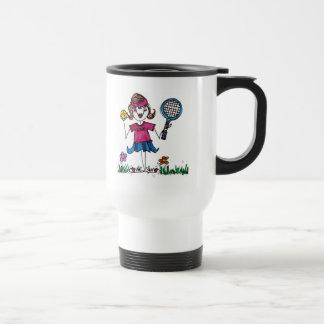 Travel Mug -Stick Tennis Girl