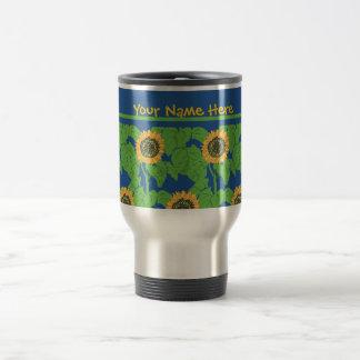 Travel Mug to Customize,  Golden Sunflowers