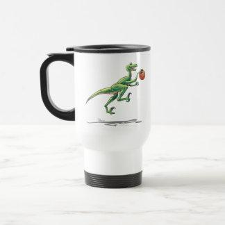 Travel Mug Velociraptor Dinosaur w/ Basketball