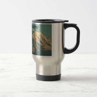 TRAVEL MUG: Winter Mt. Rainier 15 Oz Stainless Steel Travel Mug