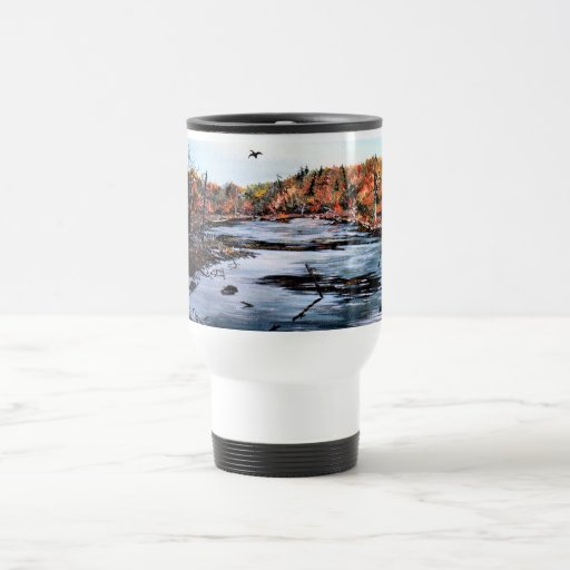 "Travel Mug with ""Duck in the Marsh"""