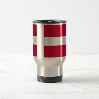 Travel Mug with Flag of Denmark