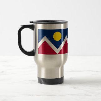 Travel Mug with Flag of  Denver, Colorado - USA