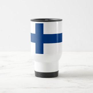 Travel Mug with Flag of Finland