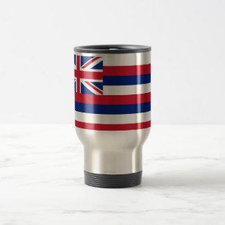 Travel Mug with Flag of Hawaii State - USA