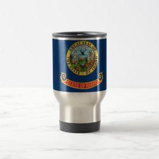 Travel Mug with Flag of Idaho State - USA