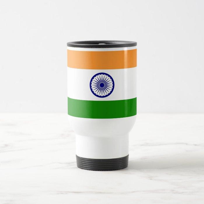 Travel Mug with Flag of India