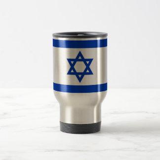 Travel Mug with Flag of Israel