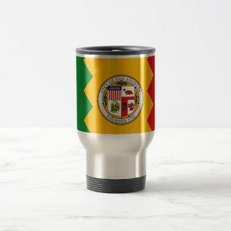 Travel Mug with Flag of Los Angeles, California