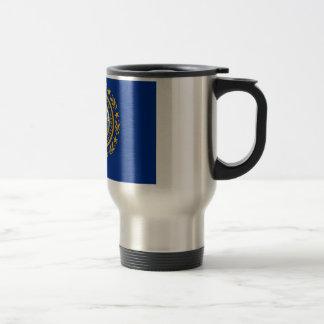 Travel Mug with Flag of New Hampshire State - USA