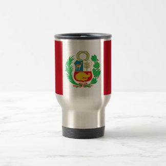 Travel Mug with Flag of Peru