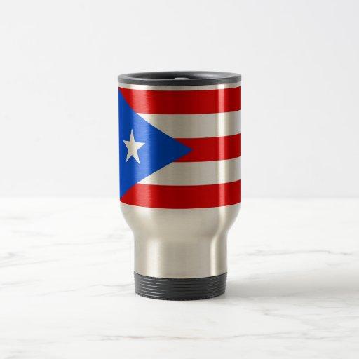 Travel Mug with Flag of  Puerto Rico - USA