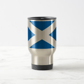 Travel Mug with Flag of Scotland