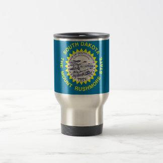 Travel Mug with Flag of South Dakota State - USA