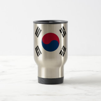 Travel Mug with Flag of South Korea