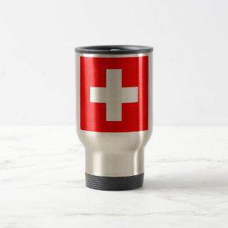 Travel Mug with Flag of Switzerland