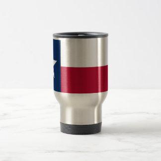 Travel Mug with Flag of Texas State - USA