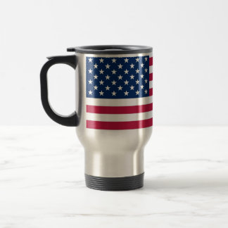 Travel Mug with Flag of the USA