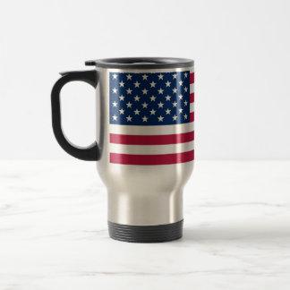 Travel Mug with Flag of the USA