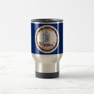 Travel Mug with Flag of  Virginia State - USA