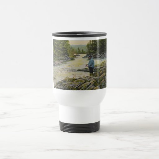 """Travel Mug with """"It's A Good Day, To Go Fishing!"""""""