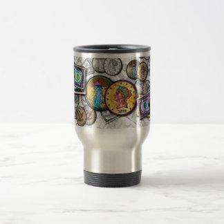 Travel Mugs - Big Coin Pop Art
