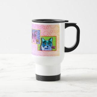 Travel Mugs - Pop Art Cat Cup