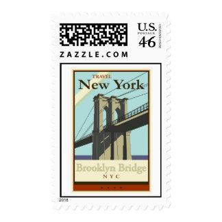 Travel New York Stamp