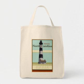 Travel North Carolina Grocery Tote Bag