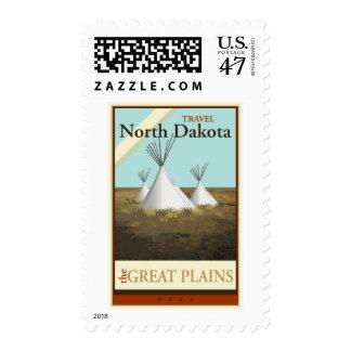 Travel North Dakota Postage Stamp