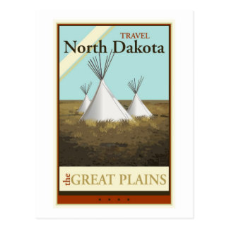 Travel North Dakota Postcard