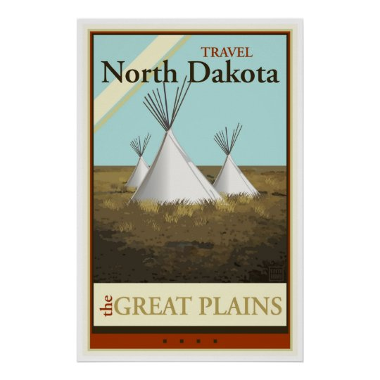 Travel North Dakota Poster