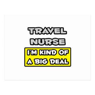 Travel Nurse .. I'm Kind of a Big Deal Postcard