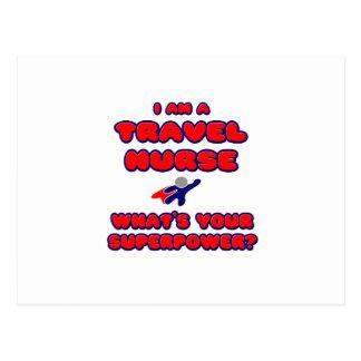 Travel Nurse .. What's Your Superpower? Postcard