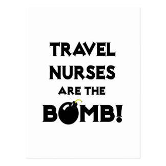 Travel Nurses Are The Bomb! Postcard