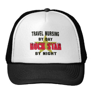 Travel nursing by Day rockstar by night Trucker Hat