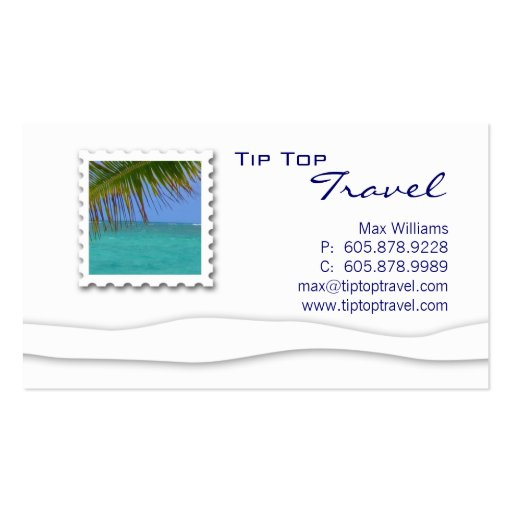 Travel Ocean Palm Tree Business Card