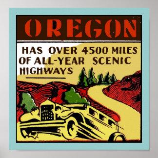 Travel Oregon Scenic Highways Poster