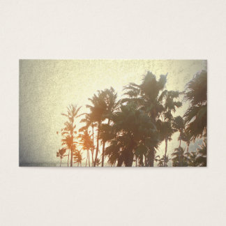Travel,Palm Tree,Rustic,Vintage,Gold, Business Card